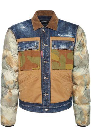 Dsquared2 Homme Vestes en jean - Veste En Denim De Coton Et À Motif Camouflage