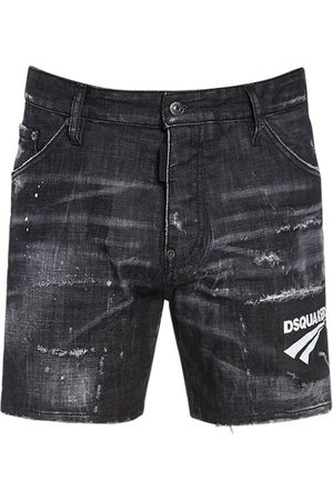 Dsquared2 Homme Shorts - Short Dan Commando En Denim De Coton 26,5 Cm
