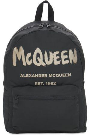 """Alexander McQueen Sac À Dos En Nylon """"new Mcqueen Graffiti"""""""