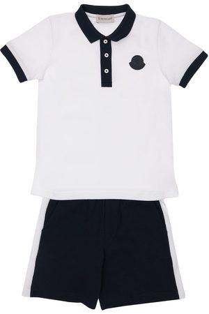 Moncler Cotton Jersey Polo & Shorts