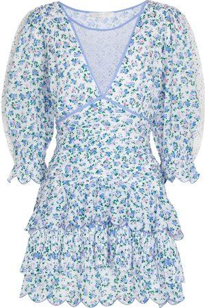 LOVESHACKFANCY Robe Marquise en coton à fleurs
