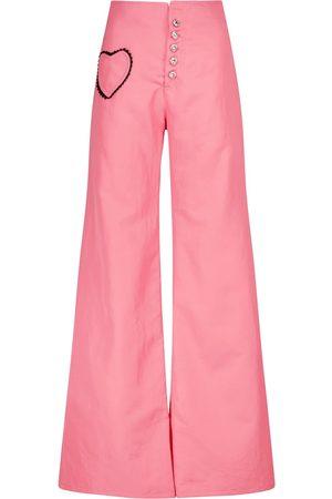 RODARTE Pantalon ample à taille haute