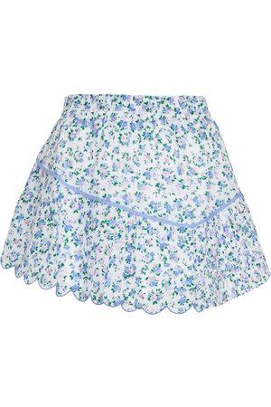 LOVESHACKFANCY Mini-jupe Memphis en coton à fleurs