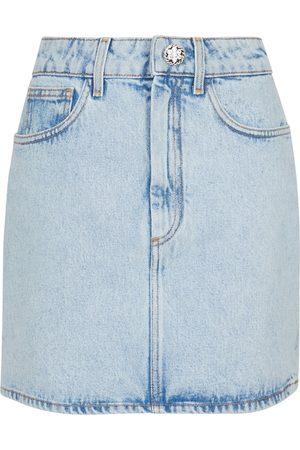 Alessandra Rich Mini-jupe en coton et ornements