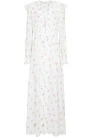 Alessandra Rich Robe longue à fleurs
