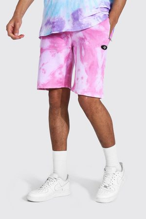 Boohoo Homme Shorts - Tall Regular Man Tie Dye Zip Shorts Homme