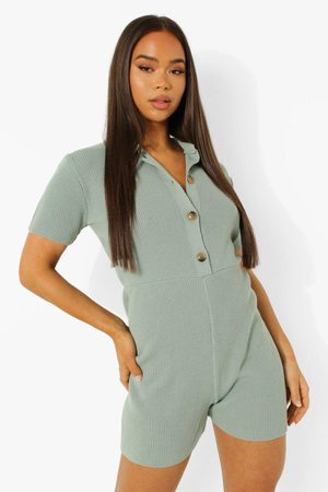 Boohoo Femme Combi-shorts - Knitted Playsuit