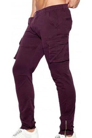 Es Pantalon Cargo Grenat