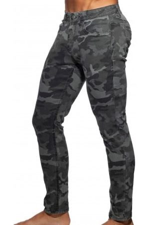 Addicted Homme Stretch - Jeans Camouflage Gris