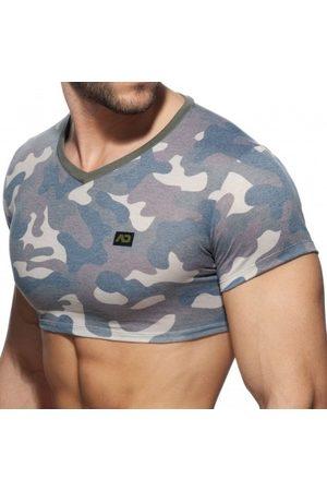 Addicted T-Shirt Crop Washed Camo Kaki