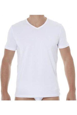 Emporio Armani Lot de 2 T-Shirts V-Neck Pure Cotton Blancs