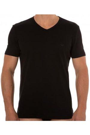 Emporio Armani Homme T-shirts - Lot de 2 T-Shirts V-Neck Pure Cotton Noirs