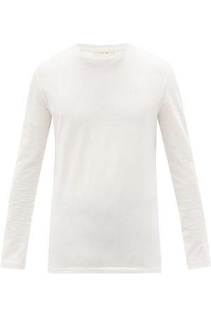 The Row Homme Manches longues - T-shirt manches longues en jersey de coton Leon
