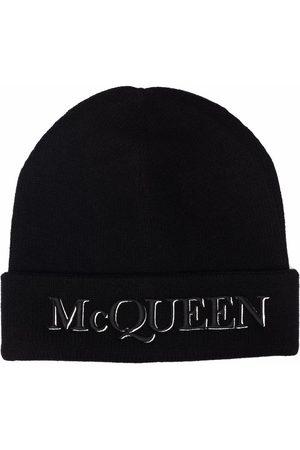 Alexander McQueen Homme Bonnets - Embroidered-logo beanie
