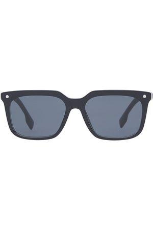 Burberry Eyewear Homme Lunettes de soleil - Stripe detail square frame sunglasses