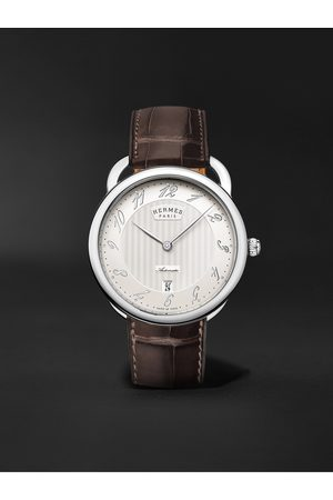 Hermès Arceau Automatic 40mm Steel and Alligator Watch, Ref. No. 055562WW00