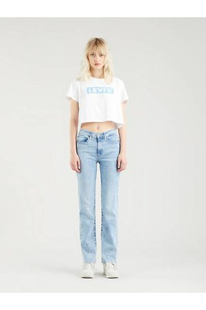 Levi's 724™ High Rise Straight Jeans Indigo clair / Spill The Tea