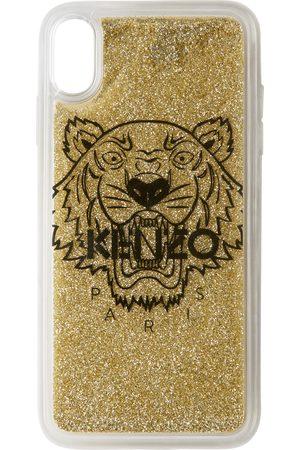 Kenzo Étui pour iPhone X+ doré Tiger