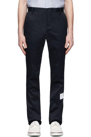 Thom Browne Pantalon chinos bleu marine Unconstructed