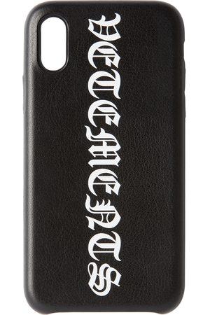 Vetements Étui pour iPhone XS noir Logo