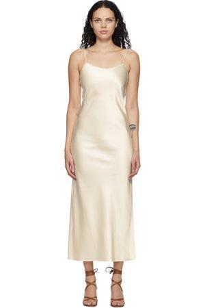 Marina Moscone Fond de robe blanc cassé Heavy Satin Bias