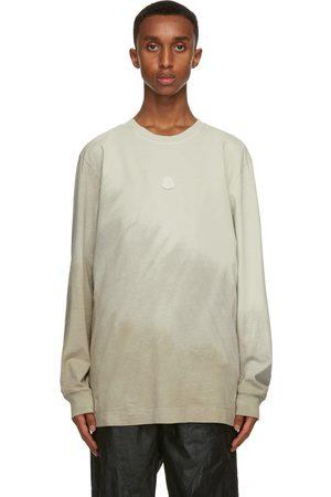 Moncler Genius T-shirt à manches longues en jersey taupe 6 Moncler 1017 ALYX 9SM