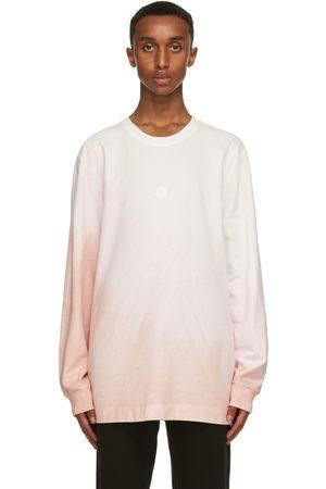 Moncler Genius T-shirt à manches longues en jersey blanc et rose 6 Moncler 1017 ALYX 9SM