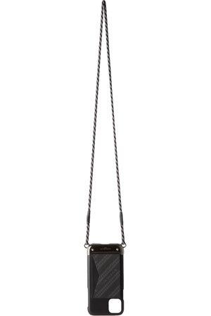 Givenchy Étui pour iPhone 11 en cuir noir et gris