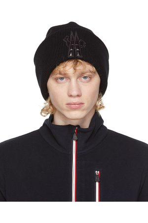 Moncler Bonnet en laine vierge noir
