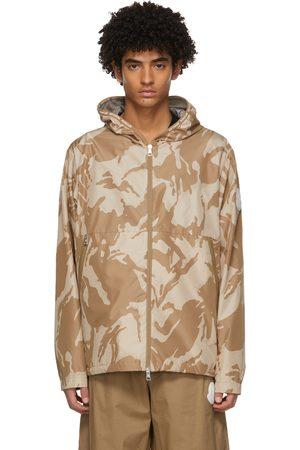 Moncler Blouson à motif camouflage beige Chardon
