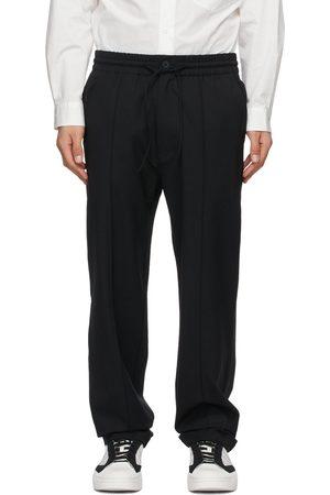 Y-3 Pantalon en laine extensible noir