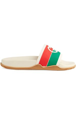 Gucci Interlocking G Web stripe slides