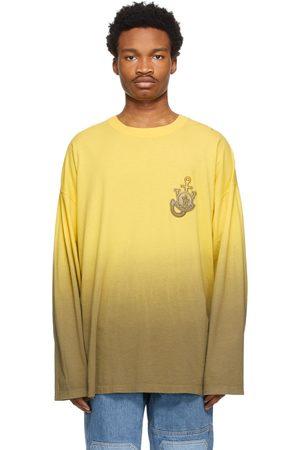 Moncler Genius T-shirt à manches longues et motif tie-dye jaune 1 Moncler JW Anderson