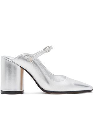 MM6 MAISON MARGIELA Chaussures à talons hauts à enfiler argentées Mary Jane