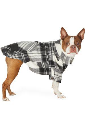 We11 Done Chemise en laine à carreaux grise Anorak exclusive à SSENSE