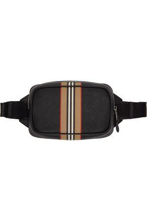 Burberry Sac-ceinture noir Icon Stripe Print