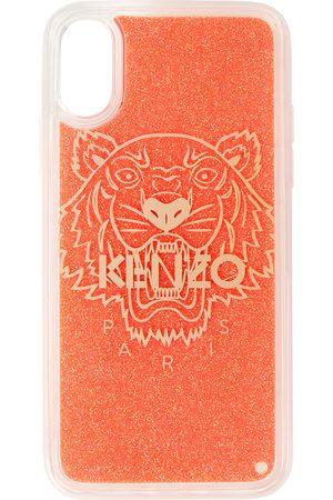 Kenzo Étui pour iPhone X/XS rouge Glitter Tiger