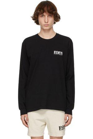 EDEN power corp T-shirt à manches longues noir et gris en coton recyclé à logo
