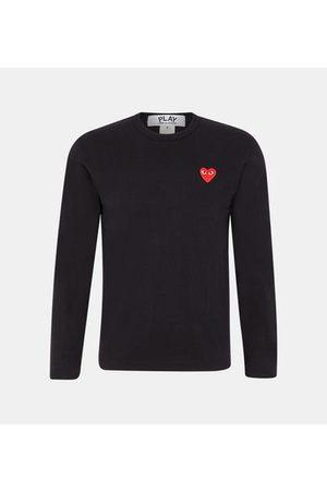Comme des Garçons T-shirt droit manches longues coton patch c?ur