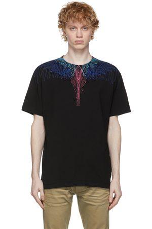 Marcelo Burlon County of Milan T-shirt noir et multicolore Wings