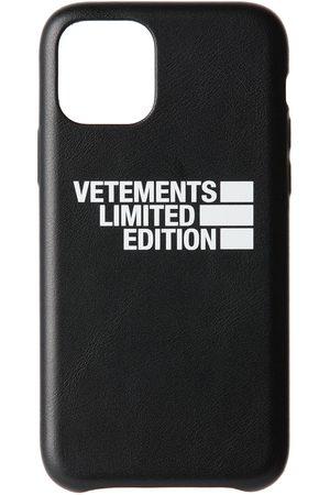 Vetements Étui pour iPhone 11 Pro noir 'Limited Edition' Logo