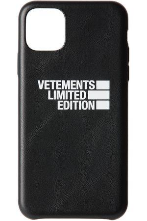 Vetements Étui pour iPhone 11 Pro Max noir 'Limited Edition' Logo