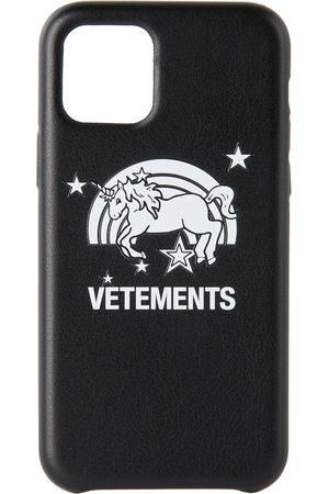 VETEMENTS Étui pour iPhone 11 Pro noir Unicorn