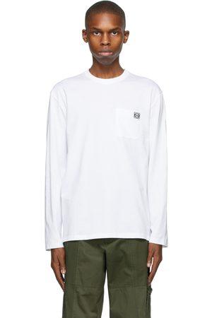 Loewe T-shirt à manches longues blanc Anagram