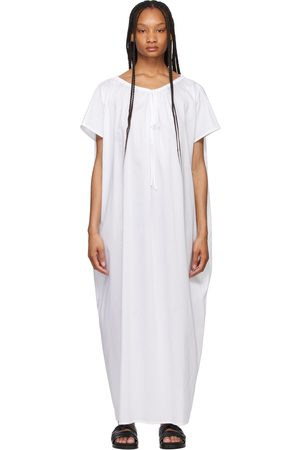 Totême Robe Beach Tunic blanche drapée