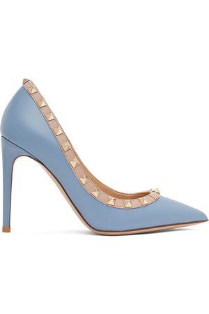VALENTINO GARAVANI Escarpins bleus et roses Rockstud
