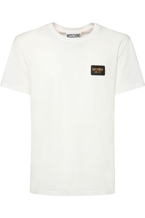MOSCHINO T-shirt En Coton Stretch Imprimé Icon