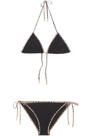 Burberry Bikini En Nylon À Carreaux