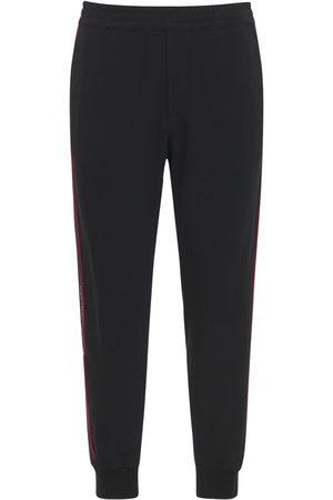 Alexander McQueen Pantalon De Jogging En Techno Avec Bande Logo