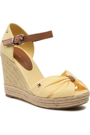 Tommy Hilfiger Espadrilles - Basic Opened Toe High Wedge FW0FW04784 Delicate Yellow ZFF